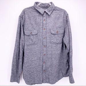 Mossimo Gray Button Down Shirt Size XL